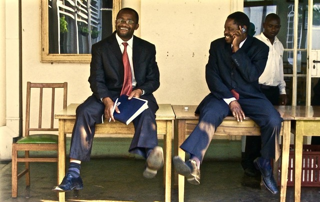 Douglas Mwonzora and Paul Mangwana in Democrats_2