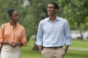 Tika Sumpter and Parker Sawyers in SOUTHSIDE WITH YOU photo by Matt Dinerstein